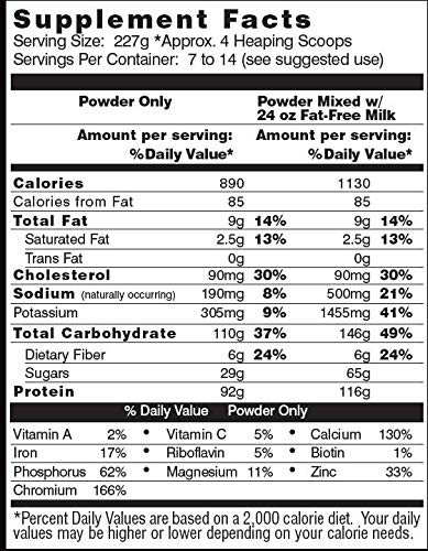 Healthy 'N Fit Anabolic Muscle (Strawberry) 3.5 lb - Natural Muscle Mass and Strength Gainer