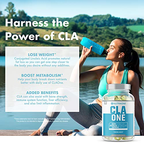 CLAOne Weight Management Supplement from NutraOne Nutrition - Conjugated Linoleic Acid (CLA) Natural Diet Aid* (90 Capsules)