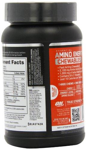 OPTIMUM NUTRITION ESSENTIAL AMINO ENERGY Chewables Diet Supplement, Fruit Punch, 75 Count