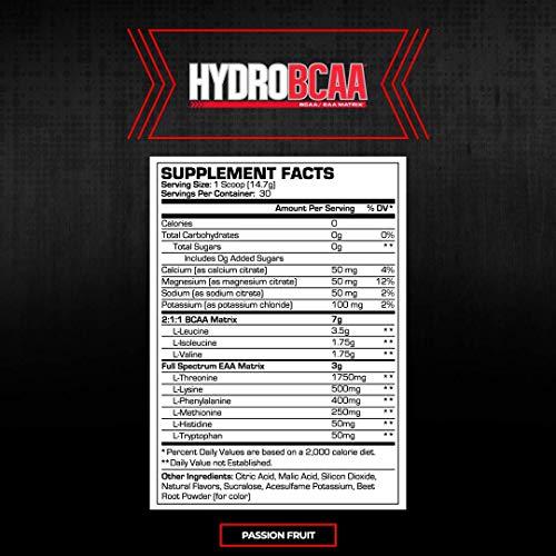 ProSupps® HydroBCAA® BCAA/EAA Full Spectrum Matrix, 7g BCAAs, 3g EAAS, 0g Sugar, 0g Carbs, (30 Servings, Passionfruit)