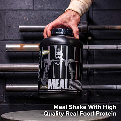 Animal Meal - All Natural High Calorie Meal Shake - Egg Whites, Beef Protein, Pea Protein, Vanilla