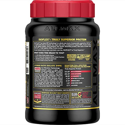 ALLMAX Nutrition - ISOFLEX - 100% Ultra-Pure Whey Protein Isolate - Chocolate Peanut Butter - 2 Pound