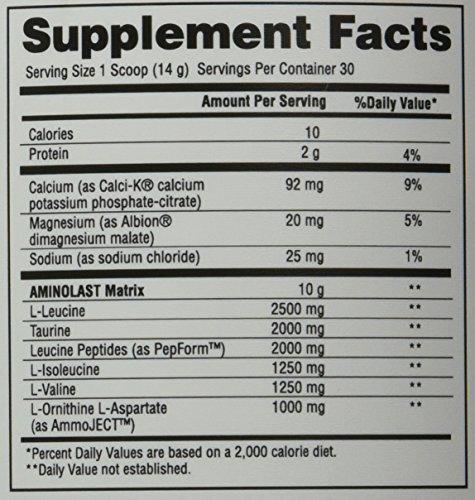 Gaspari Nutrition Aminolast Powder Supplyment, Pineapple, 14.8 Ounce
