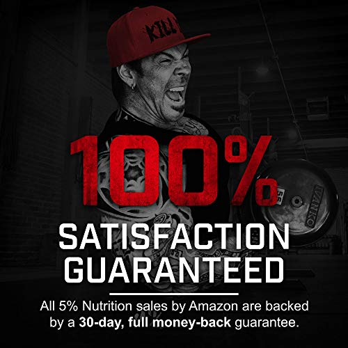 Rich Piana 5% Nutrition Real Carbs with Real Food Complex Carbohydrates, Long-Lasting Low Glycemic Energy for Pre-Workout/Post-Workout Recovery Meal, 65.6 oz, 60 Servings (Strawberry Shortcake)