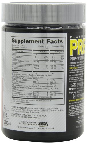 Optimum Nutrition Platinum, Pre- Superfruit 30 Servings 8.45 Ounce