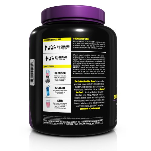 Cutler Nutrition Total Protein Muscle Building Sustain Protein Powder, Chocolate Brownie, 4.75-Pound by BPI Sports