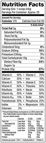 Vega One All-in-One Nutritional Shake, Chocolate, Large Tub,30.9 oz