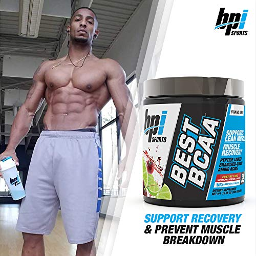 BPI Sports Best BCAA - BCAA Powder - Branched Chain Amino Acids - Muscle Recovery - Muscle Protein Synthesis - Lean Muscle - Improved Performance - Hydration - Cherry Lime - 30 Servings - 10.58 oz.