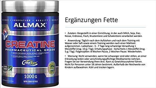 ALLMAX Nutrition Creatine Powder 100 Pure Micronized Creatine Monohydrate Pharmaceutical Grade Creatine 400G
