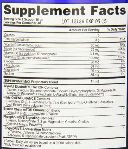Gaspari Nutrition Superpump Max, Raspberry Lemonade, 1.41 Pounds