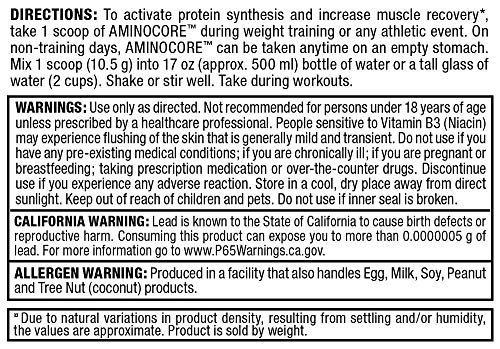 ALLMAX Nutrition Aminocore BCAAs, Sweet Tea, 462g