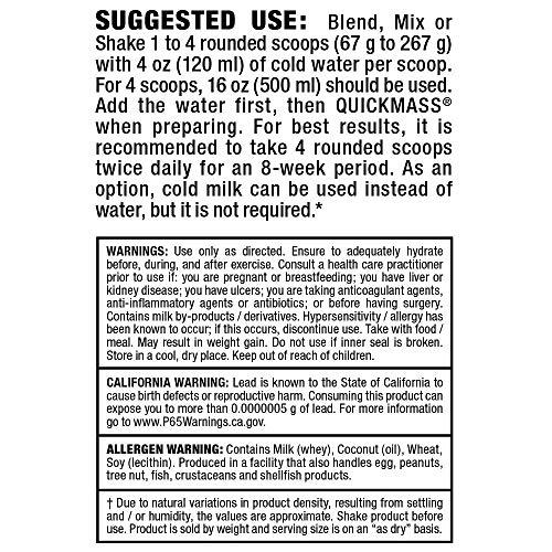 ALLMAX Nutrition Quick Mass, Rapid Mass Gain Catalyst, Strawberry-Banana, 6 lbs (2.72 kg)