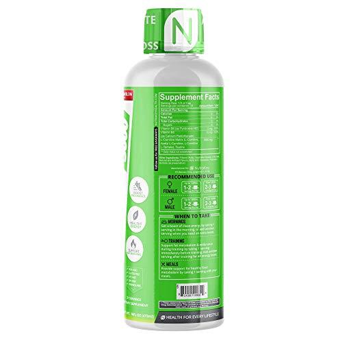 NutraKey L-Carnitine 3000mg Stimulant-Free Liquid Fat Burner, No Sugar, Gluten Free, Turn Fat Into Fuel, (Delicious Watermelon) 31 Servings