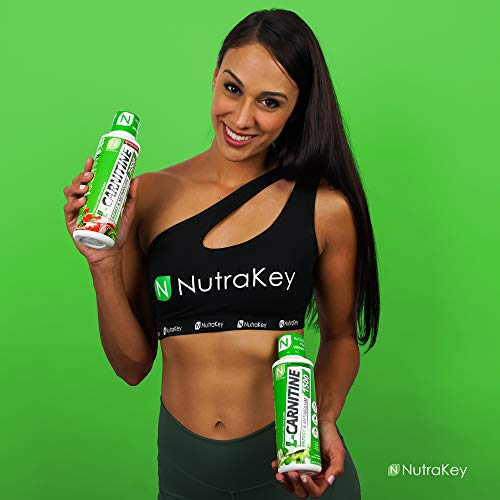NutraKey L-Carnitine 3000mg Liquid Fat Burner, Simulant Free - Turn Fat Into Fuel with Maximum Absorption, (Passion Berry) 31 Servings