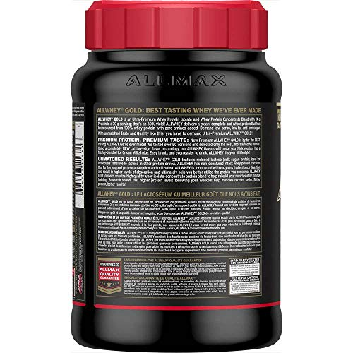ALLMAX Nutrition Gold AllWhey, 100% Premium Whey Protein, Cookies & Cream, 32 oz (907 g)