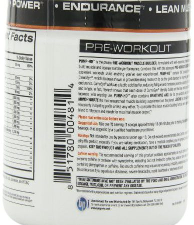 BPI Pump-HD Ultimate Pre-Workout Formula, Orange Twist, 11.64-Ounce