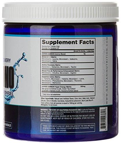 Gaspari Nutrition Hyper Amino, Blue Raspberry, 30 Count