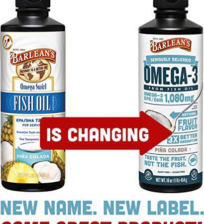 Barlean?s Seriously Delicious Omega-3 Fish Oil, Piña Colada, 8-oz
